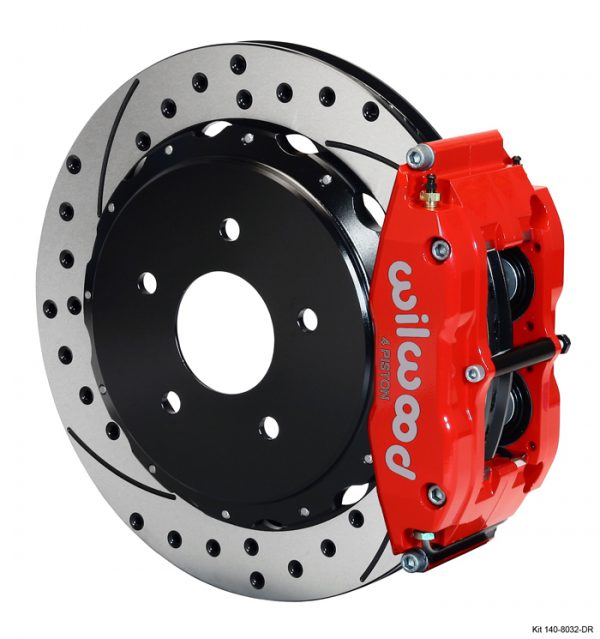 Wilwood 140 9830-DR Forged Narrow Superlite 4R Big Brake Rear Brake Kit
