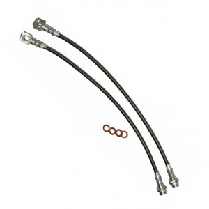 Firebird Camaro Corvette Conversion Stainless Hose Kit Clear Outer Coating